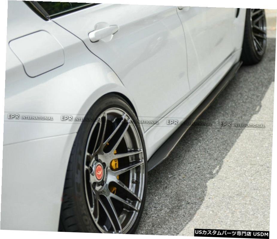 再販ご予約限定送料無料 車用品 バイク用品 >> パーツ 外装 エアロパーツ その他 BMW F82 F83 M4については2個で3Dスタイルカーボンファイバーサイドスカートボトム拡張追加 3D Fiber Side 2pcs 数量限定アウトレット最安価格 For Bottom Style Skirt Add Carbon Extension On M4