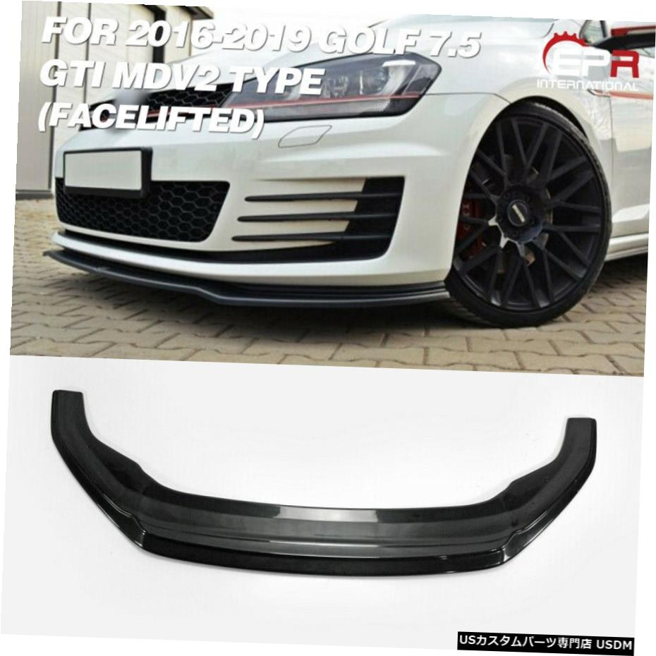 <title>車用品 バイク用品 >> パーツ 外装 エアロパーツ その他 16-19フォルクスワーゲンVWゴルフGTI 7.5用タイプA FRP未塗装フロントリップ faceliftedな Type A FRP Unpainted Front Lip Facelifted For 16-19 Volkswagen VW Golf ◆在庫限り◆ 7.5 GTI</title>