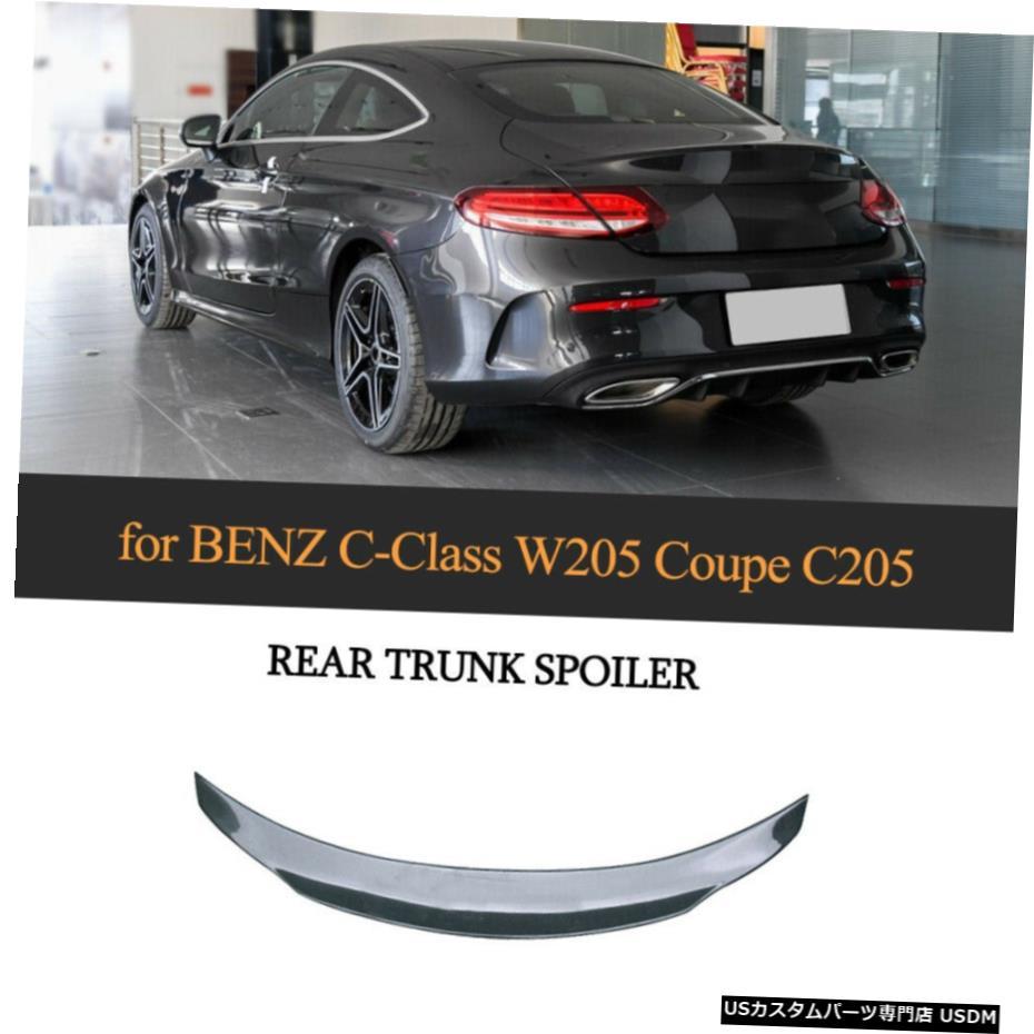 車用品 バイク用品 >> パーツ 外装 エアロパーツ その他 カーボンファイバートランクブーツスポイラーウイングについてはメルセデスW205C205 C200 C300クーペ14-19 Carbon Fiber Wing W205C205 For Coupe 高級品 Trunk C300 Spoiler Boot Mercedes 在庫処分 14-19