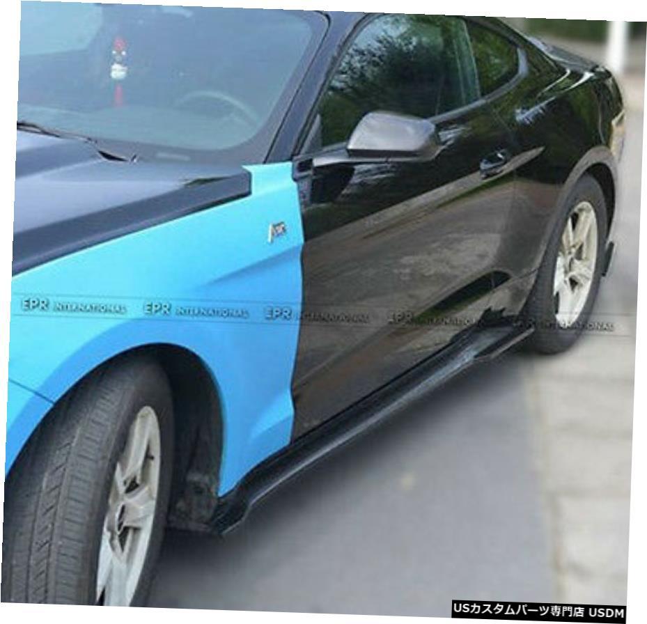 最も完璧な エアロパーツ 新しい2個のサイドスカート延長は、フォードマスタング2015 Carbon SUスタイルカーボンファイバーのために追加します On New 2pcs Side New Skirt Extension Add On For Ford Mustang 2015 SU Style Carbon Fiber, 道の餃子駅:82202349 --- anekdot.xyz