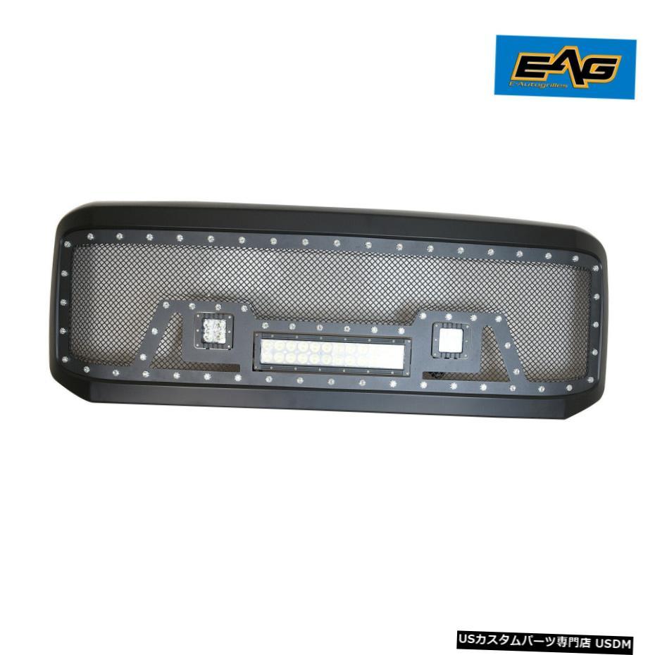 Ford LEDライト1PCに適合します 05-07 Grille 1PC Super Duty グリル Stainless Steel W/LED Mesh EAG Light / Fits EAGメッシュグリルステンレス鋼は05-07フォードスーパーデューティW