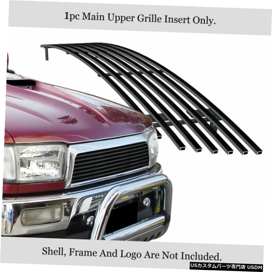 一番の グリル Fits 1996-1998トヨタ・ハイラックスサーフメインアッパーステンレスブラックビレットグリルインサート Fits 1996-1998 Toyota 4Runner Main Upper Stainless Black Billet Grille Insert, カツラギチョウ 00ca25af