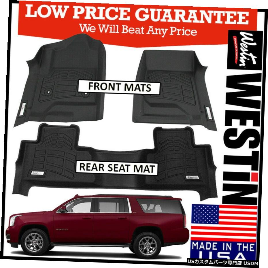 <title>車用品 バイク用品 >> パーツ 内装パーツ 期間限定で特別価格 その他 Floor Mat WestinSure-Fitカスタム成形2015-2020GMCユーコンXLフロアマットBLACK Westin Sure-Fit Custom Molded 2015-2020 GMC Yukon XL Mats BLACK</title>
