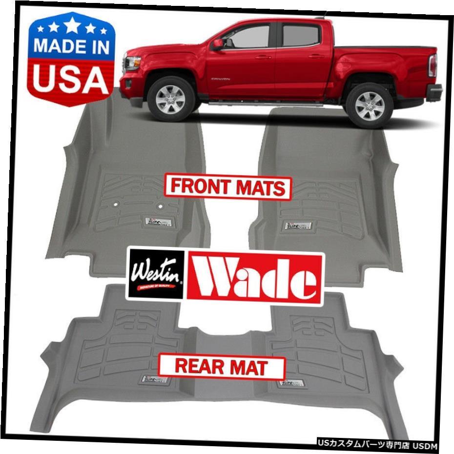 <title>車用品 バイク用品 >> パーツ 内装パーツ その他 Floor Mat Westin WadeSure-Fitカスタム成形2015-2020GMCキャニオンクルーキャブフロアマットグレー Wade Sure-Fit Custom 品質保証 Molded 2015-2020 GMC Canyon Crew Cab Mats GRAY</title>