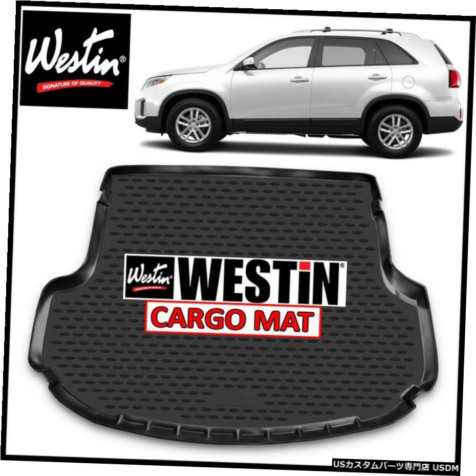 2020公式店舗 Floor Mat ウェスティンプロファイルカーゴフロアライナーマットは2014-2015年起亜ソレントブラックに適合 Westin Profile Cargo Floor Liner Mat fits 2014-2015 Kia Sorento BLACK, オダジマアート d66928e2