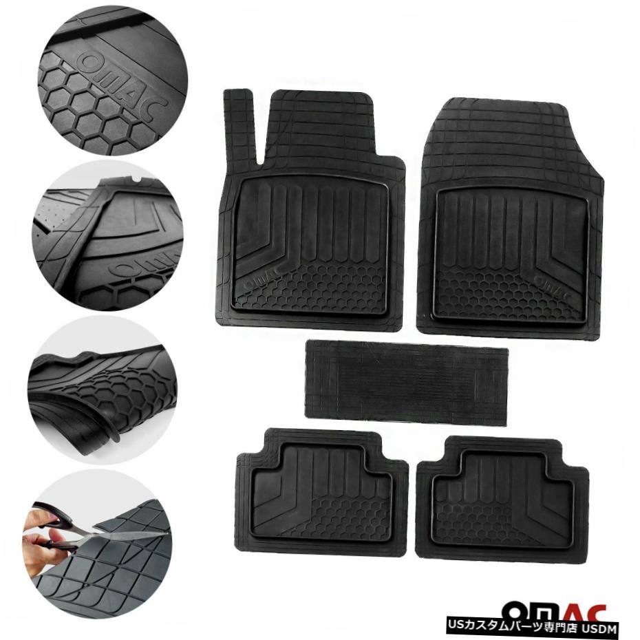 当店在庫してます! Floor Mat Kia Sportage防水ラバー3D成形ブラックフロアマットライナー5個用。 For Kia Sportage Waterproof Rubber 3D Molded Black Floor Mats Liner 5 Pcs., ヒロショウe-shop 9af00d7a