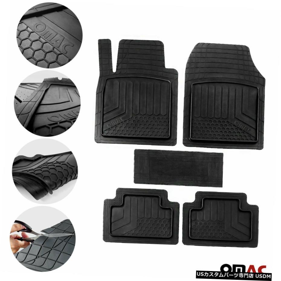 春夏新作モデル Floor Mat スバルインプレッサ防水ラバー3Dモールドブラックフロアマットライナー5個用 For Subaru Impreza Waterproof Rubber 3D Molded Black Floor Mats Liner 5 Pcs., 向島町 86c20367