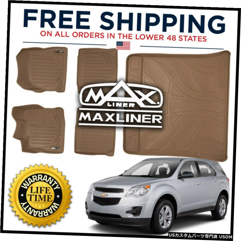 <title>車用品 バイク用品 >> パーツ 内装パーツ 待望 その他 Floor Mat MaxLiner All Weather 1st 2nd Cargo Set Tan for 2010-11 Equinox Terrain</title>