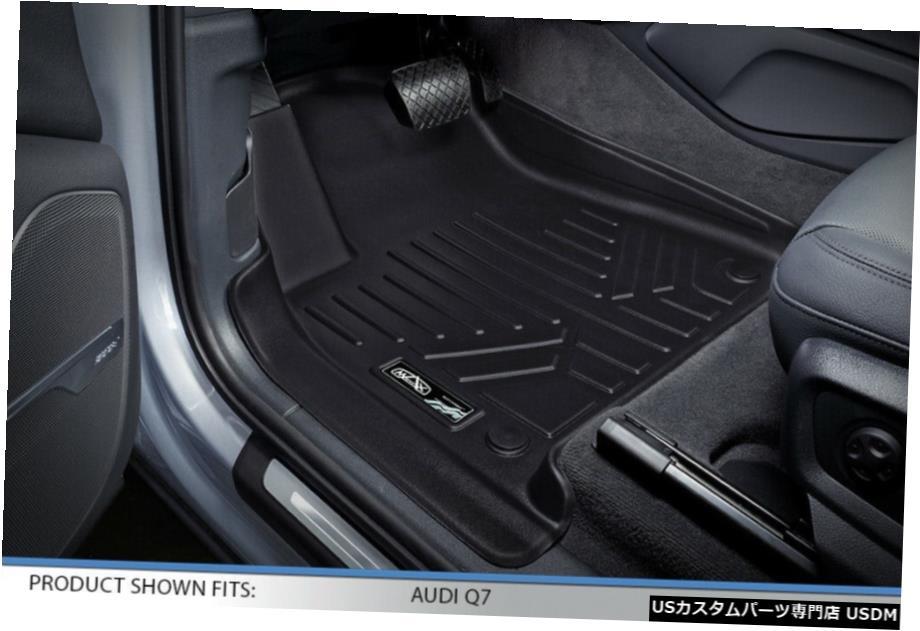 <title>車用品 バイク用品 >> パーツ 内装パーツ その他 Floor Mat Smartlinerフロアマット 2017-2020アウディQ7の3列目ブラックの後ろのカーゴライナー Smartliner Mats Cargo Liner Behind 3rd Row Black for 最安値に挑戦 2017-2020 Audi Q7</title>