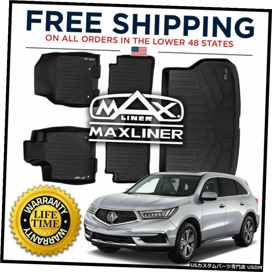 <title>車用品 バイク用品 >> パーツ 内装パーツ その他 Floor Mat MaxLiner 1st 2nd Cargo Mats Black おすすめ for 2013-18 Acura RDX W 4-Way Power Seat</title>