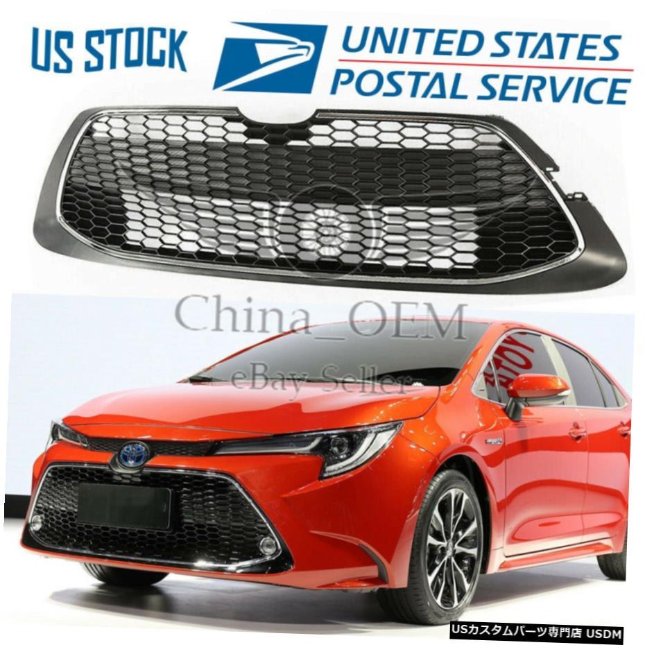 車用品 バイク用品 >> パーツ 外装 エアロパーツ その他 大決算セール クロームメッキ 2020年用トヨタカローラLEXLEセダンフロントバンパーロアグリルグリルハニカム For 2020 Lower XLE Toyota Bumper Grille Grill Corolla Sedan Front LE 大好評です Honeycomb