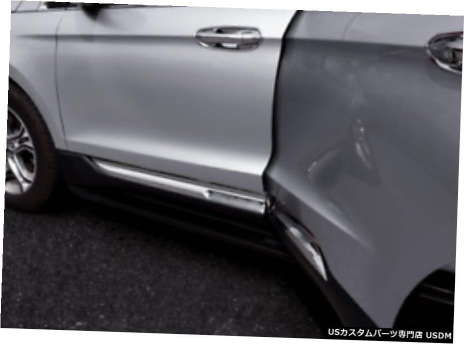 車用品 バイク用品 >> パーツ 外装 エアロパーツ その他 クロームメッキ Fit For Ford Cover ABS Edge 割引も実施中 Molding 売買 Door 4Pcs 2015-2019 Side Trims Body Chrome