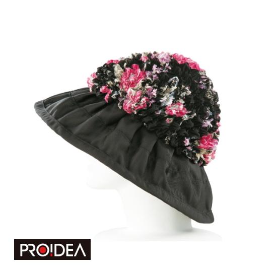 (有松絞りのふんわり花柄帽子) エレガント お洒落 シワになりにくい ムレない サイズ調整可能 プロイデア PROIDEA ドリーム 送料無料 伝統工芸「有松絞り」を使った贅沢な帽子