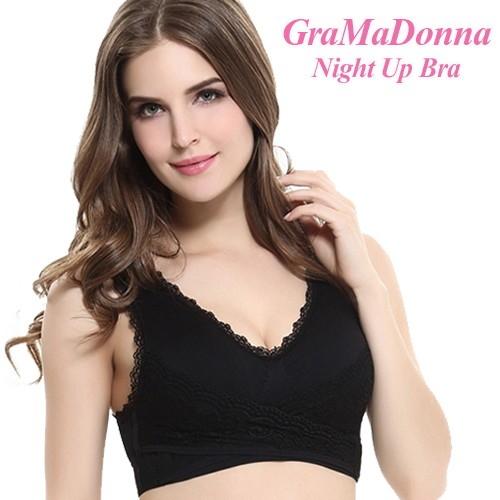 正規品 あなたの美乳を応援いたします GraMaDonna Night Up Bra グラマドンナ ブラジャー 営業 インナーブラック ノンワイヤー 微乳→美乳 ナイトアップブラ バストアップブラ 海外並行輸入正規品 巨乳サポート