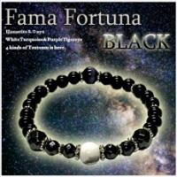 【5個+1個サービス計6個セット販売】【Fama Fortuna BLACK】【送料無料】開運の倍々ゲームが発動する!★最強開運ブレスレット降臨★【●代引不可】