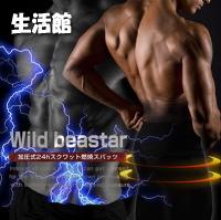 【2枚セット】【Wild beaster(ワイルドビースター)】【・送料無料】筋トレや運動が苦手な方にも★加圧式24時間ダイエットスパッツ★