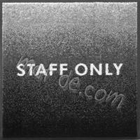 【2枚セット】STAFF ONLYマット/600×600mm【受注生産】