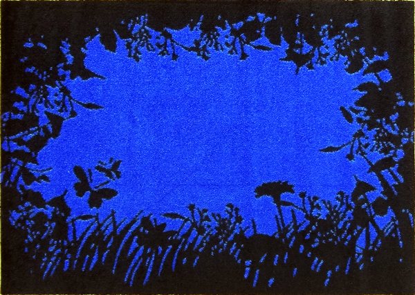 デザインマット シルエット/ブルー(600×850mm)フチなし【受注生産:約8日/平日の日数】