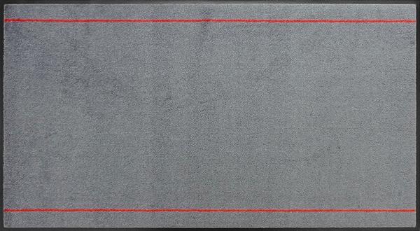 オフィスデザインマットver4600×1100mm/フチありダークグレー・レッド【受注生産:約8日/平日の日数】