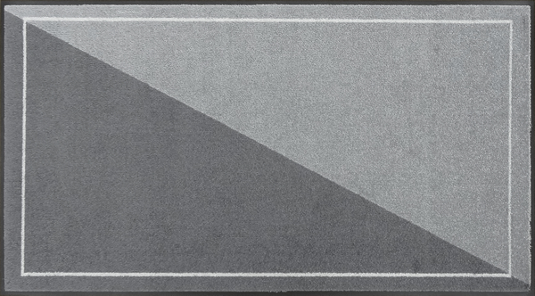 オフィスデザインマットver6600×1100mm/フチありダークグレー・グレー【受注生産:約8日/平日の日数】