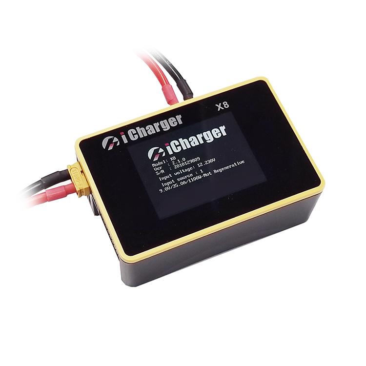iCharger X8 1100W 30A小型 スマートバランスチャージャー バランス充電器 適合セル LiHV LiPo Lilo LiFe LTO NiZn NiMH NiCd Pb 1~8S