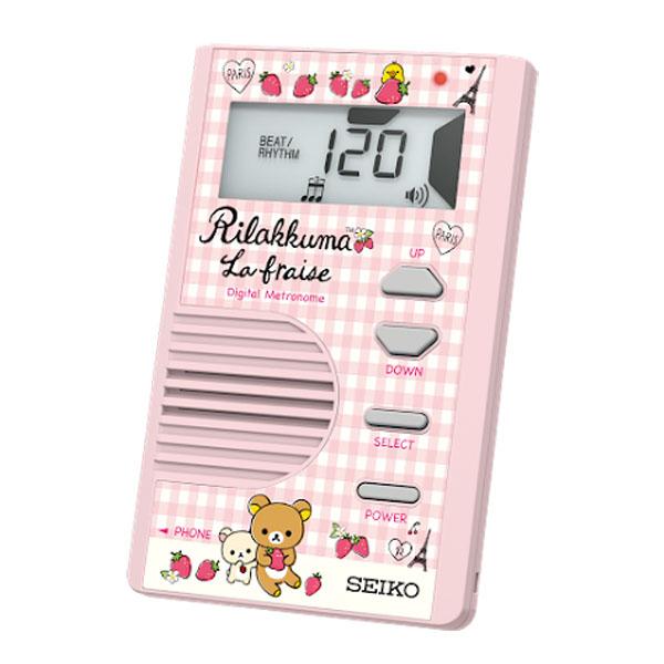 メトロノーム SALE 安い 電子 SEIKO セイコー クォーツメトロノーム カードタイプ DM71RKP ピンク ハイコントラスト液晶 リラックマ 30%Off