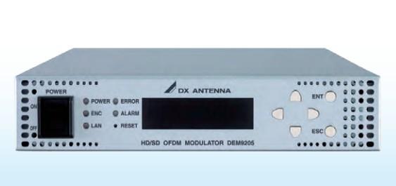 DXアンテナ HD/SDエンコーダー内蔵 OFDM変調器 DEM9205