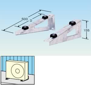 メック エアコン架台 壁面用 溶融亜鉛メッキ QKKL-3B  8台セット