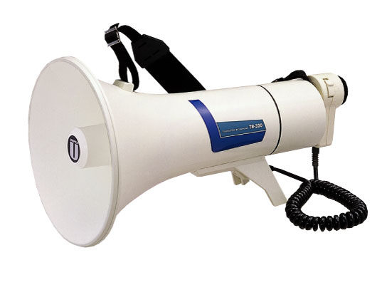 拡声器 TR-320 ユニペックス 拡声器 13W中型メガホン