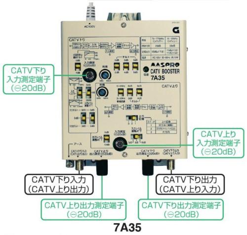 マスプロ CATVブースター 35dB 7A35