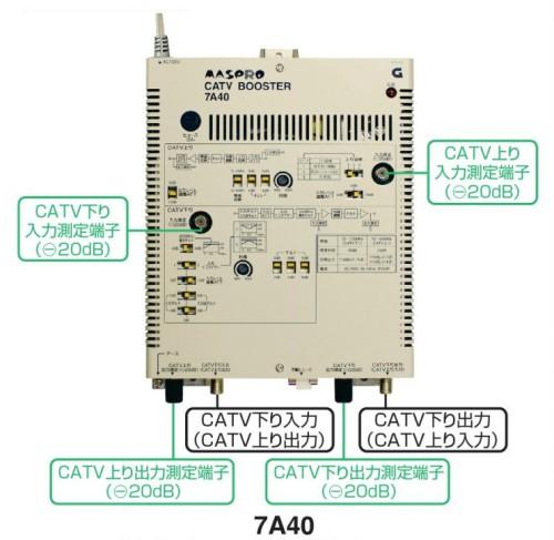 マスプロ CATVブースター 40dB 7A40