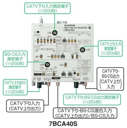 マスプロ CATV BS・CSブースター 40dB 7BCA40S