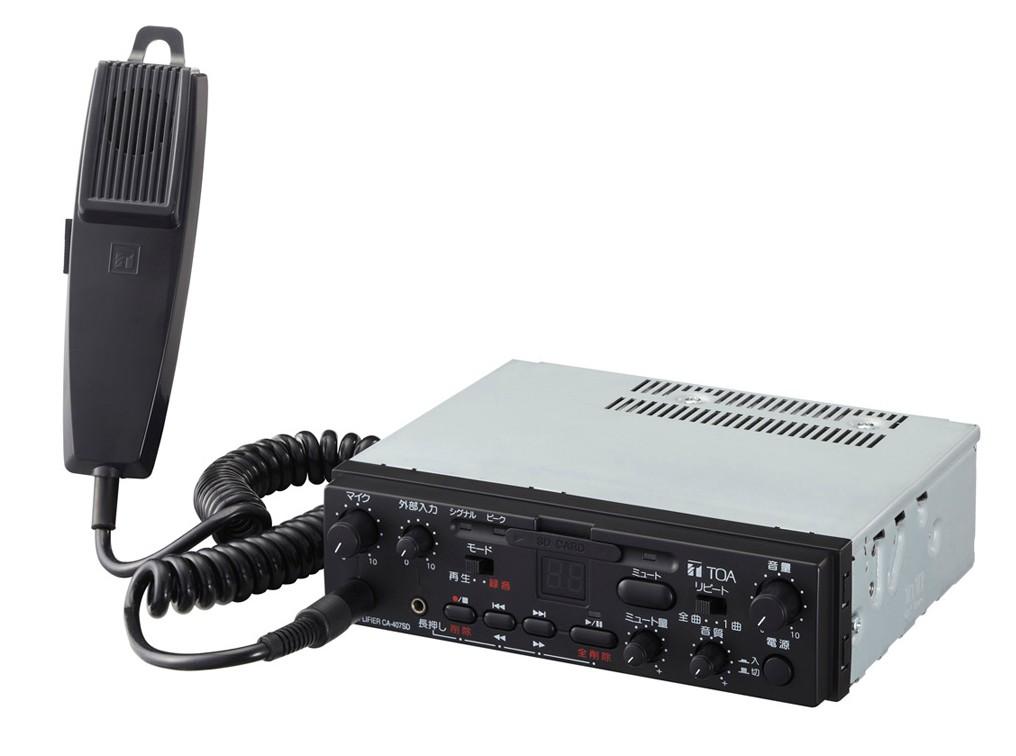 拡声器 TOA 20W SDレコーダー付車載用アンプ CA-207SD