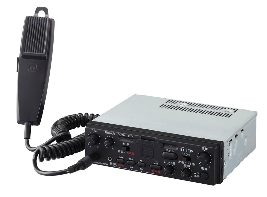 拡声器 TOA 40W SDレコーダー付車載用アンプ CA-407SD