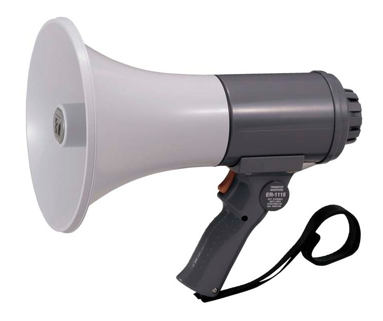 拡声器 TOA ハンド型メガホン 15W ER-1115
