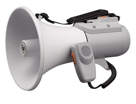 拡声器 TOA ホイッスル音付ショルダー型メガホン 15W ER-2115W