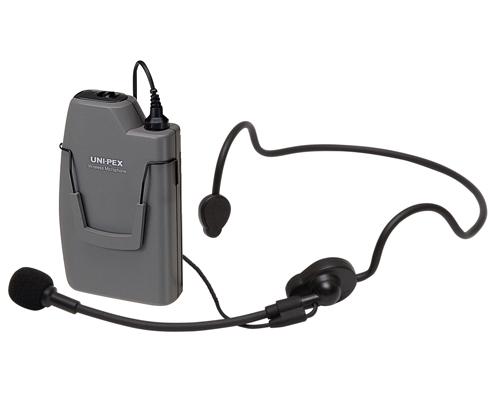 ユニペックス ヘッドセット形 ワイヤレスマイク WM-3130