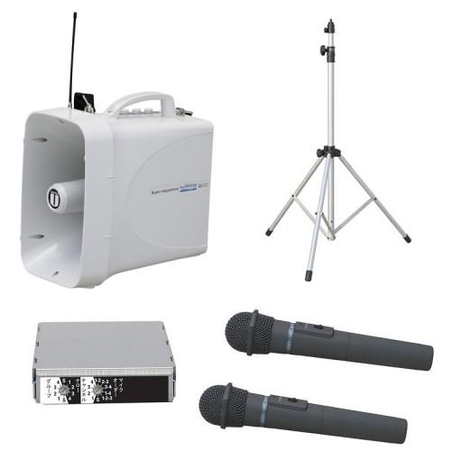 拡声器 30W PLL300MHz帯 選挙用スピーチセット(雨天対応) TWB-300 ST-110 WM-3400×2本 SU-350
