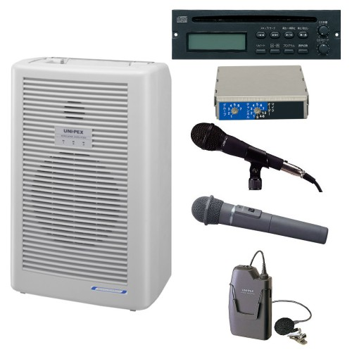拡声器 20W PLL800MHz帯 選挙用スピーチセット WA-862A DU-850A MD-58 WM-8400 WM-8100A CDU-103