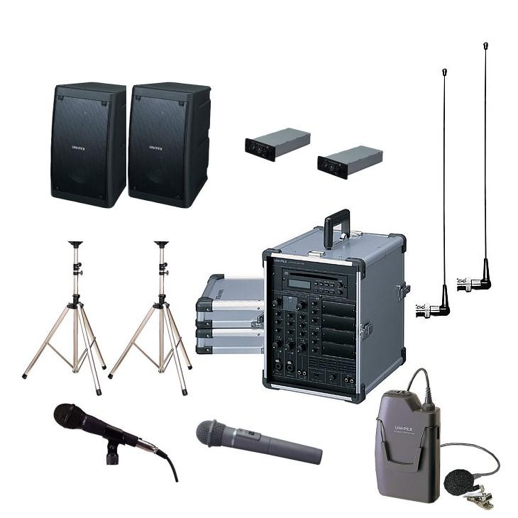 拡声器 200W PLL800MHz帯 選挙用スピーチセット CGA-200DA DU-8200×2 AA-382×2 EWS-120×2 ST-25×2 MD-58 WM-8100A WM-8400
