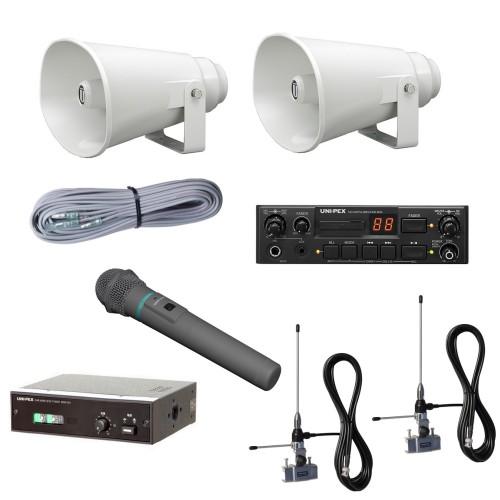 拡声器 40W 選挙用SD付車載ワイヤレスセット 12V CV-381/25A×2 LS-404 NDS-402 WM-3400 AA-3800B×2 NDW-301