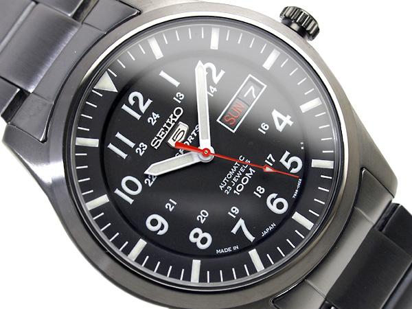 セイコー セイコー5 スポーツ SEIKO5 SPORTS セイコーファイブスポーツ メンズ 腕時計 SNZG17J セイコー 逆輸入 自動巻き メカニカル オールブラック メタルベルト 日本製 SNZG17J1 SNZG17JC ビジネス 3年保証 男性用