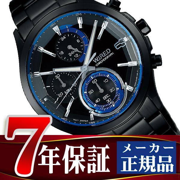 65f413f7fe 【SEIKOWIRED】セイコーワイアード腕時計メンズリフレクションREFLECTIONクロノグラフクォーツブラック×ブルーAGAV122