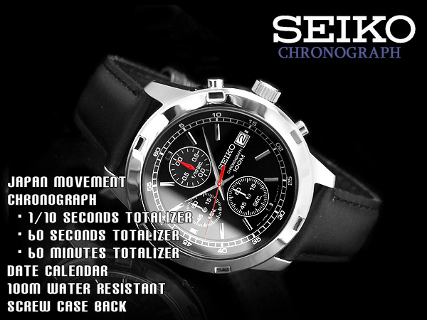d12af1b6a seiko specialty store 3s: Seiko men's Chronograph Watch Black Dial ...