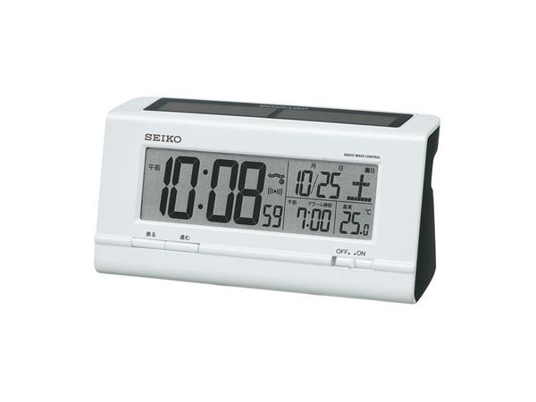 精工精工太陽能收音機時鐘鬧鐘 SQ766W