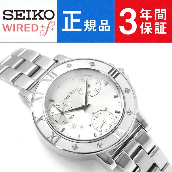 【正規品】セイコー ワイアード エフ SEIKO WIRED f トーキョー ガール ミックス TOKYO GIRL MIX クオーツ レディース 腕時計 ホワイト AGET403