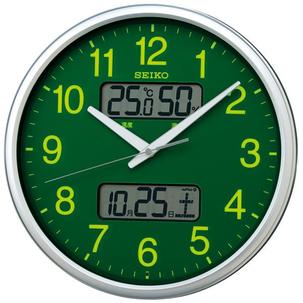 【正規品】セイコークロック SEIKO CLOCK クロック 温度・湿度表示つき 電波時計 掛け時計 アナログ KX235H