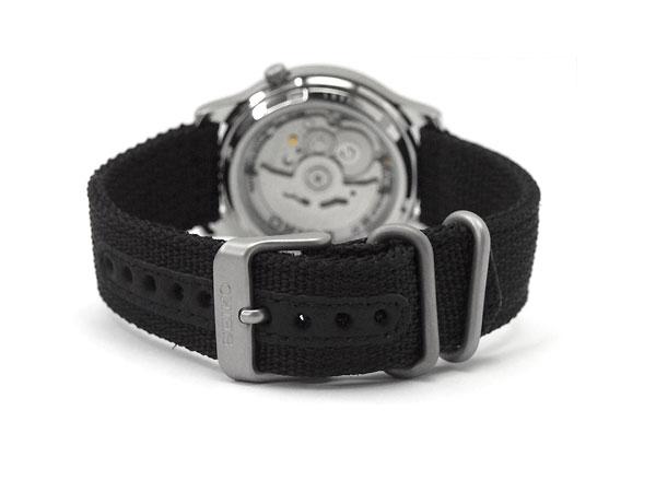 精工 5 SEIKO5 男式军用手表重新导入精工自动黑色网带 SNKN33K1