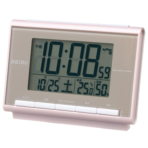 SEIKO Clock Temperature Humidity Indication Radio Time Signal Table Clock Digital SQ698P