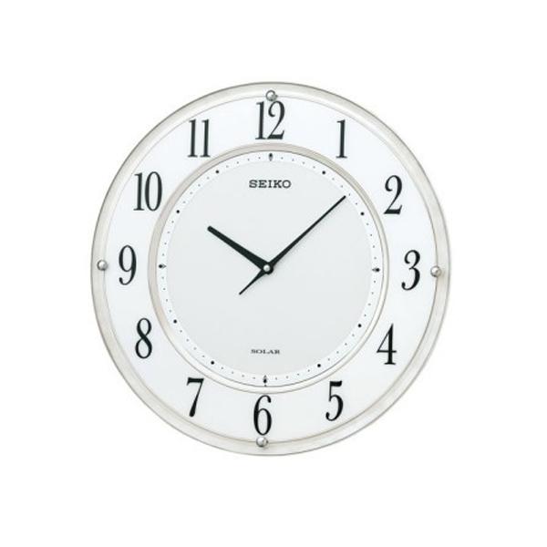 【正規品】セイコー SEIKO CLOCK クロック製セイコー SEIKO クロック 薄型電波ソーラークロック SF506W ホワイト